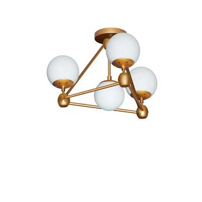 Filament Design 4-Light Gold Semi-Flushmount with Frosted Glass - Home Depot