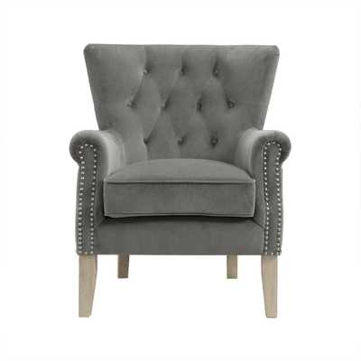 Tilda Gray Accent Chair - Home Depot