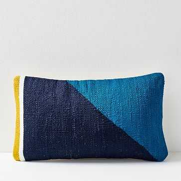 Spliced Colorfield Pillow Cover, Midnight - West Elm