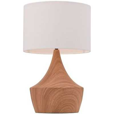 Zuo Kelly Metal Table Lamp in White and Brown - eBay