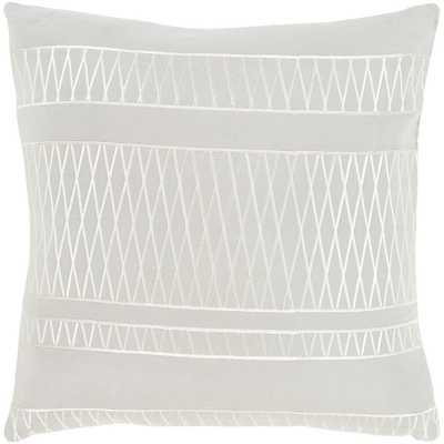 Lockmead Poly Euro Pillow, Grey - Home Depot