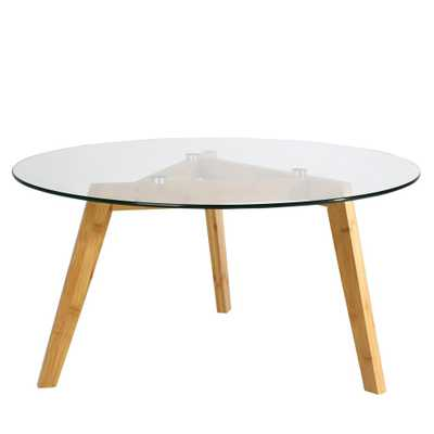 Costanoa Clear/Natural Glass Coffee Table - Home Depot