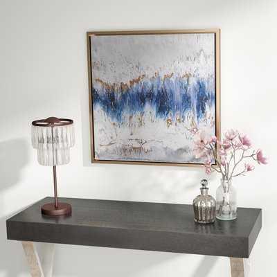 'Blue Embrace' Framed Graphic Art Print on Wood - Wayfair