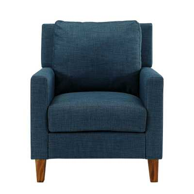 Blue Pillow Back Accent Chair - Home Depot
