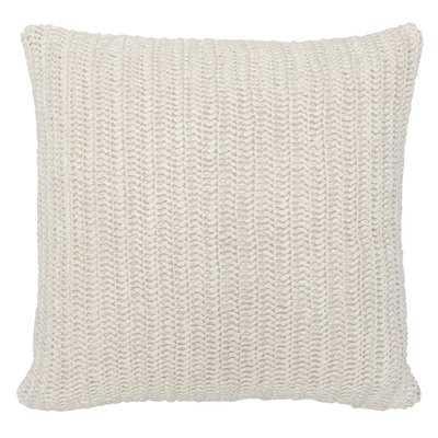 Coraline Knitted Linen Throw Pillow - Wayfair