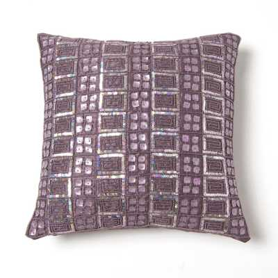 Mother of Pearl and Sequin Pillow - Home Depot