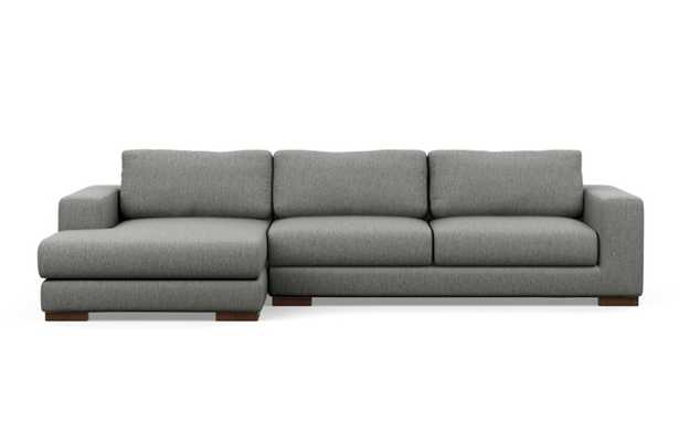 Henry Chaise Sectional with Plow Fabric and Oiled Walnut legs - Interior Define