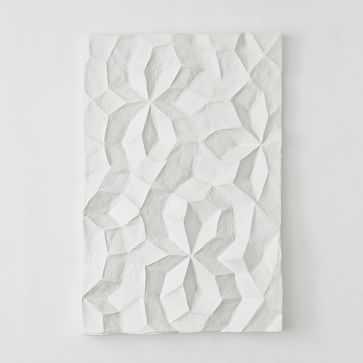 Paper Mache Geo Panel Wall Art, Panel I - West Elm