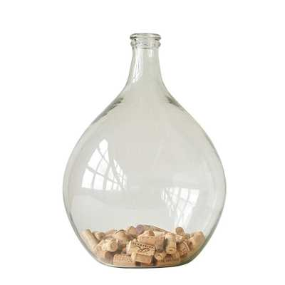 18.5 in. H Clear Round Glass Bottle - Home Depot