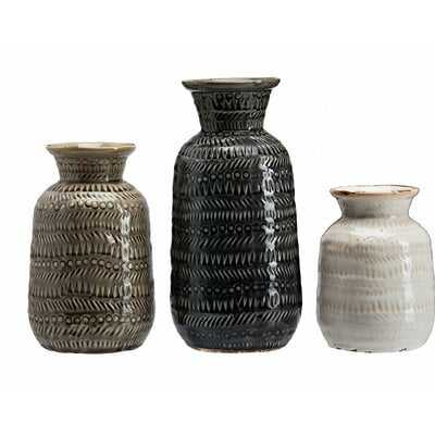 Ratchford Ceramic Bohemia 3 Piece Table Vase Set - Wayfair
