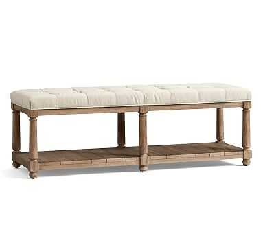 Berlin Bench, BRUSHED CROSSWEAVE NATURAL - Pottery Barn