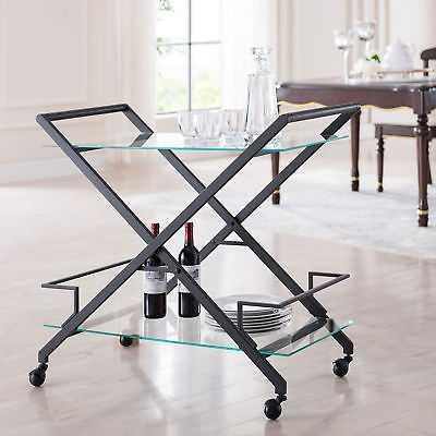 Orren Ellis Carlos Bar Cart: Sleek Black - eBay