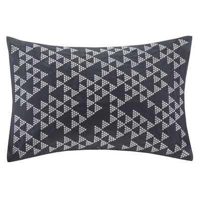Doucet Embroidered Cotton Lumbar Pillow - Wayfair