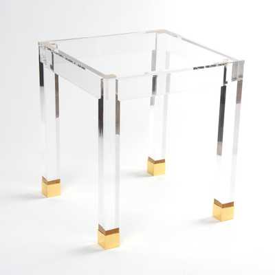 Acrylic Gold Accent Side Table, Acrylic With  Gold Accent Legs - Home Depot