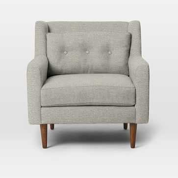 Crosby Arm Chair, Twill, Stone - West Elm