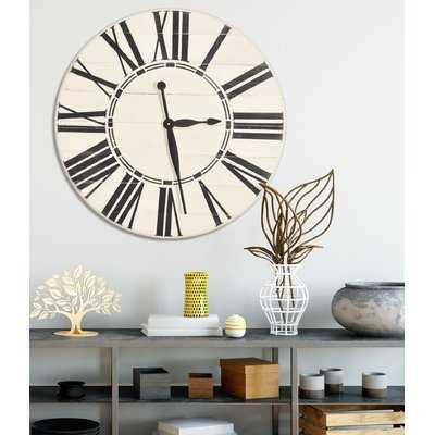 Oversized Farmhouse Wall Clock - Wayfair