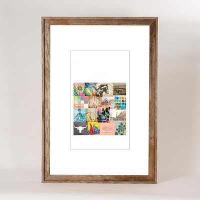 Creative Gallery 24 in. x 36 in. Rustic Reclaimed Barnwood Picture Frame, Natural Wood - Home Depot