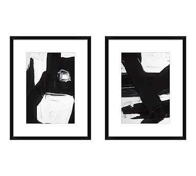 "Jagged Maze Framed Print, 14 x 18"", Set of 2 - Pottery Barn"