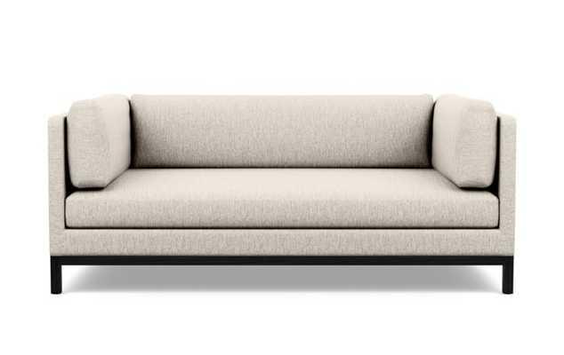 Jasper Sofa with Wheat Fabric and Matte Black legs - Interior Define