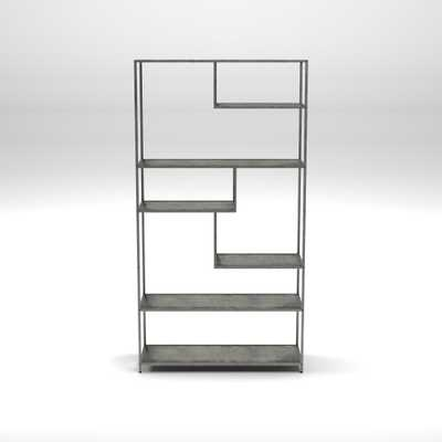 Emond Dark Gray Bookcase - Home Depot