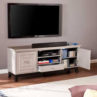 Lansing Antique Grey Entertainment Center, Antique Gray And Black - Home Depot