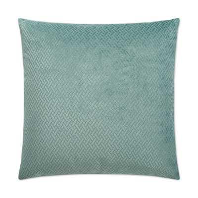 Dv Kap Flex Teal (Blue) Feather Down 24 in. x 24 in. Standard Decorative Throw Pillow - Home Depot