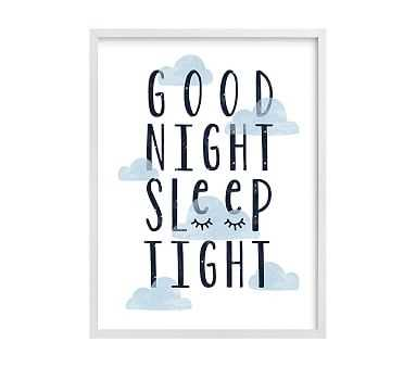 Good Night Wall Art by Minted(R), White, 16x20 - Pottery Barn Kids