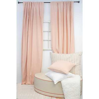 American Colors Brand 84 in. L Blush Curtain Panel, Pink - Home Depot