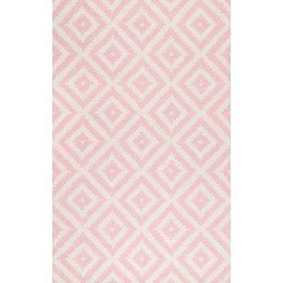 Arrowood Hand-Tufted Wool Light Pink Area Rug - Wayfair