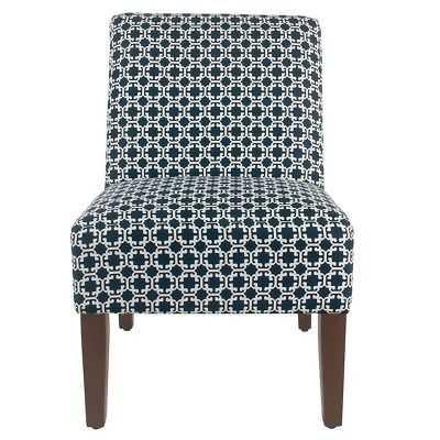 HomePop Armless Accent Chair - Indigo Lattice - eBay