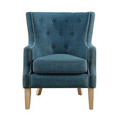 Fanny Blue Upholstered Accent Chair - Home Depot