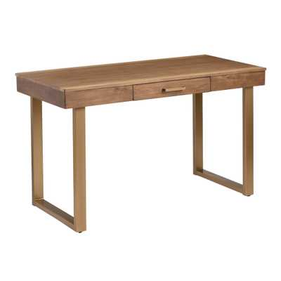 Wood and Gold Metal Sloan Desk by World Market - World Market/Cost Plus