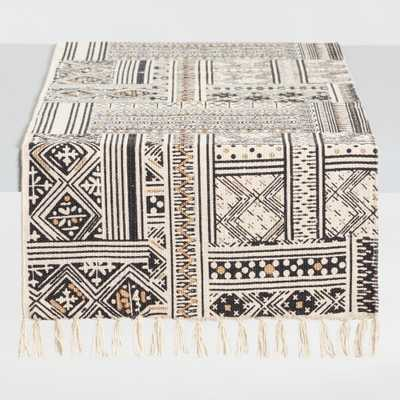 Black and White Patchwork Ravi Table Runner by World Market - World Market/Cost Plus