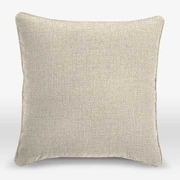 """Upholstery Fabric Pillow Cover, Welt Seam, 18""""x18"""", Pebble Weave, Oatmeal - West Elm"""