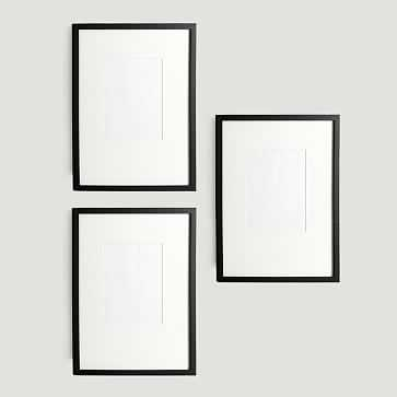 "Gallery Frames, Set of 3, 16""x20"", Black Lacquer - West Elm"