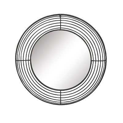 Oliver & James Buri Round Black Iron Wall Mirror - eBay