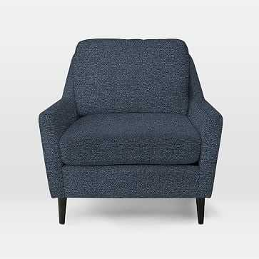 Everett Chair, Chenille Tweed, Nightshade - West Elm