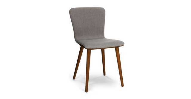 ( a set ) Sede Thunder Gray Walnut Dining Chair - Article
