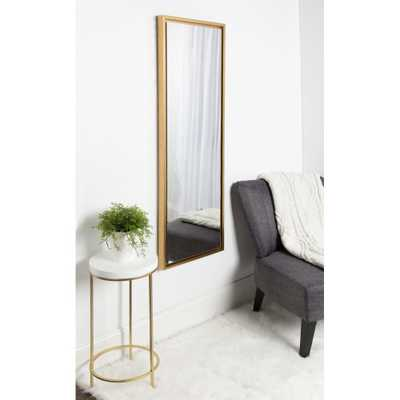 Evans Rectangle Gold Mirror - Home Depot