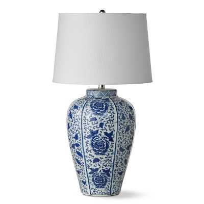 Chinoiserie Table Lamp, Rose - Williams Sonoma