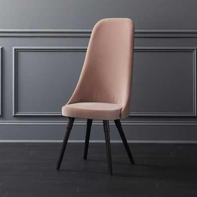 Harlow Pink Velvet Chair - CB2
