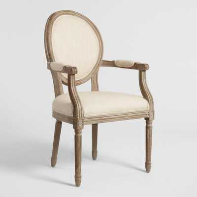 Natural Linen Paige Round Back Dining Armchair by World Market - World Market/Cost Plus