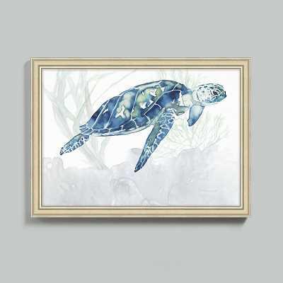 "Ballard Designs Watercolor Sea Turtle Art  30"" x 42"" - Ballard Designs"