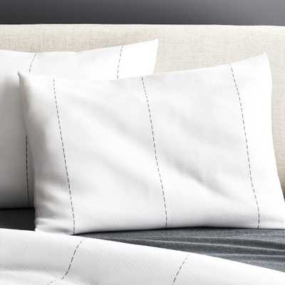 Picco Navy and White Standard Shams Set of 2 - CB2