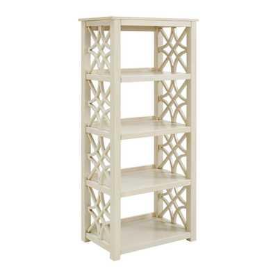 Linon Home Decor Sloane Antique White Bookcase, Off White Finish - Home Depot