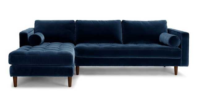 Sven Cascadia Blue Left Sectional Sofa - Article