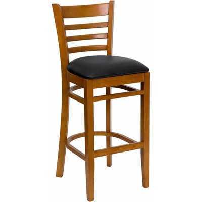 """Dryden 31"""" Wood Bar Stool with Cushion - Wayfair"""