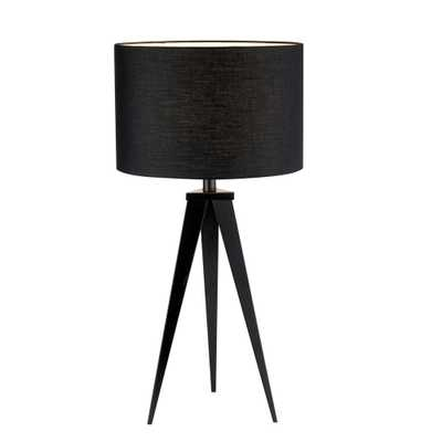Adesso Director 28 in. Black Table Lamp - Home Depot