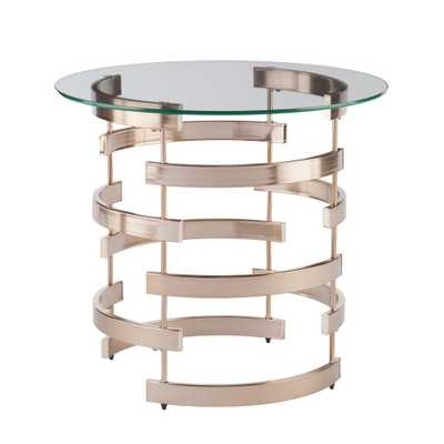 Raymond Champagne End Table, Champagne Finish - Home Depot