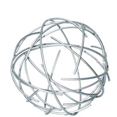 Gorney Metal Orb of Dyson Sphere Sculpture with Broken Rings - Wayfair
